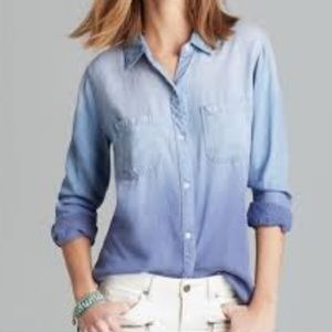 Rails Blue Ombré Tencel Chambray Button Down Shirt